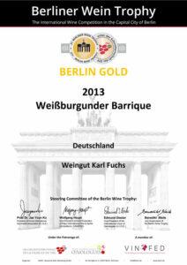 2013er-Weissburg-Barrique_Gold-Berliner-Wein-Thropy-13_web
